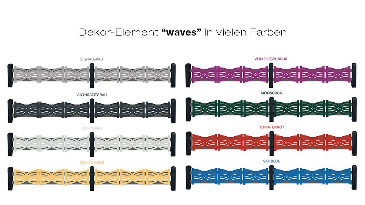 Green Creations dekor elements in the style waves