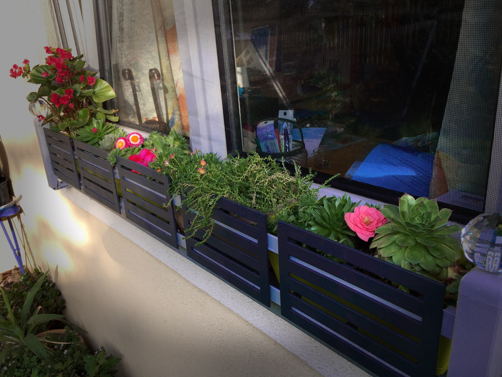 Masu planter holder for all window sills without drilling or sawing